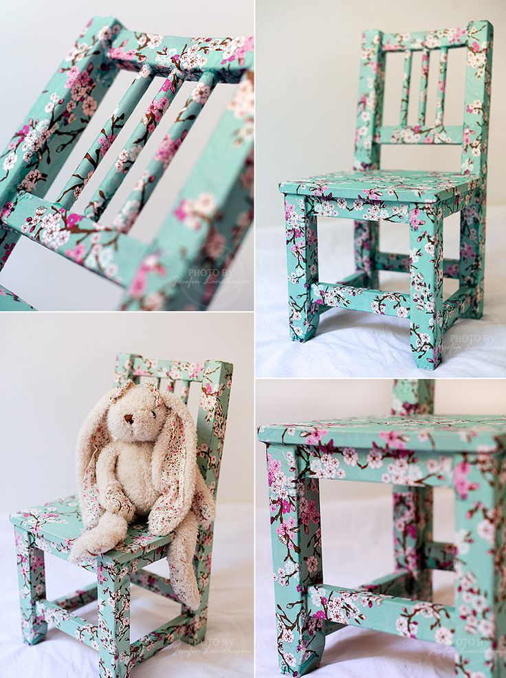 Use Découpage to Create a Beautiful New Chair - http://diyforlife.com/use-decoupage-to-create-a-beautiful-chair/ - #Chair, #Decoupage