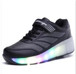 children led light up shoes shoes sneakers with wheels boy girl mesh roller skate shoes chaussure
