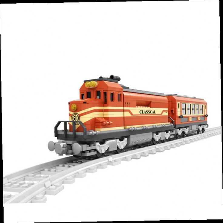 53.59$  Buy here - http://ali931.worldwells.pw/go.php?t=32682772527 - AUSINI Building Blocks Assembled Track Train Station Train Urban Is Compatible With Legoe Educational Minifigure 53.59$