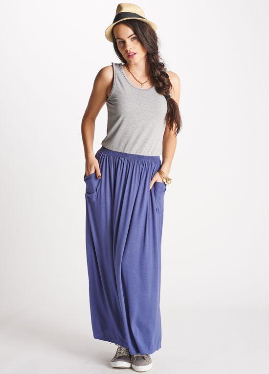 Queen Bee Ayanna Grey/Blue Breastfeeding Maxi Dress by Floressa