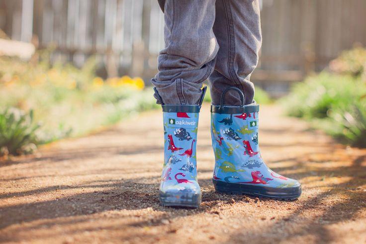 stivali da pioggia in gomma 100% con dinosauri bambino