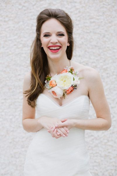 a living floral necklace!  Photography by Annabella Charles Photography / http://asianbeesphotography.com, Event Planning by Social Graces Events / http://socialgracesevents.com/, Floral Design by Haute Horticulture / http://hautehorticulture.com/ #bride