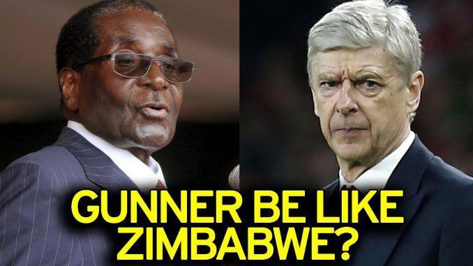 Arsenal fan compares Arsene Wenger to Robert Mugabe of Zimbabwe - http://zimbabwe-consolidated-news.com/2017/03/14/arsenal-fan-compares-arsene-wenger-to-robert-mugabe-of-zimbabwe/