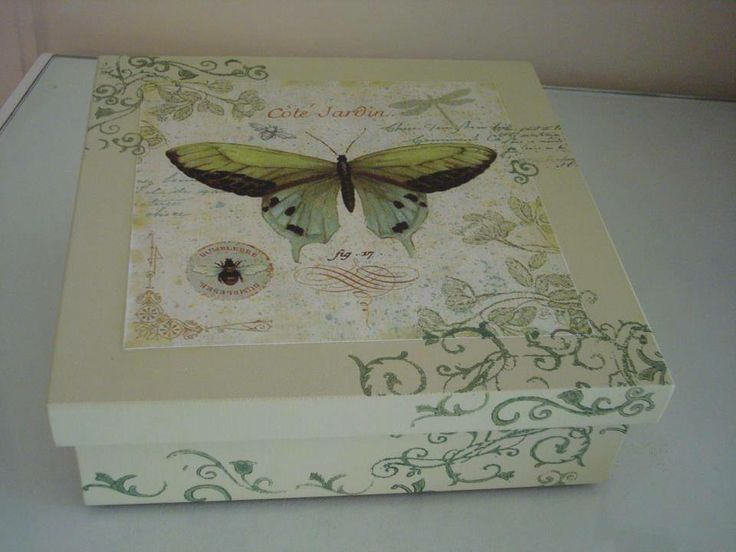 cajita con mariposa