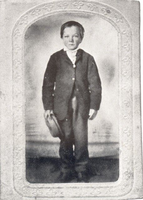 Milton Snavely Hershey as a young boy. Image courtesy of the Hershey Community Archives, Hershey, PA.