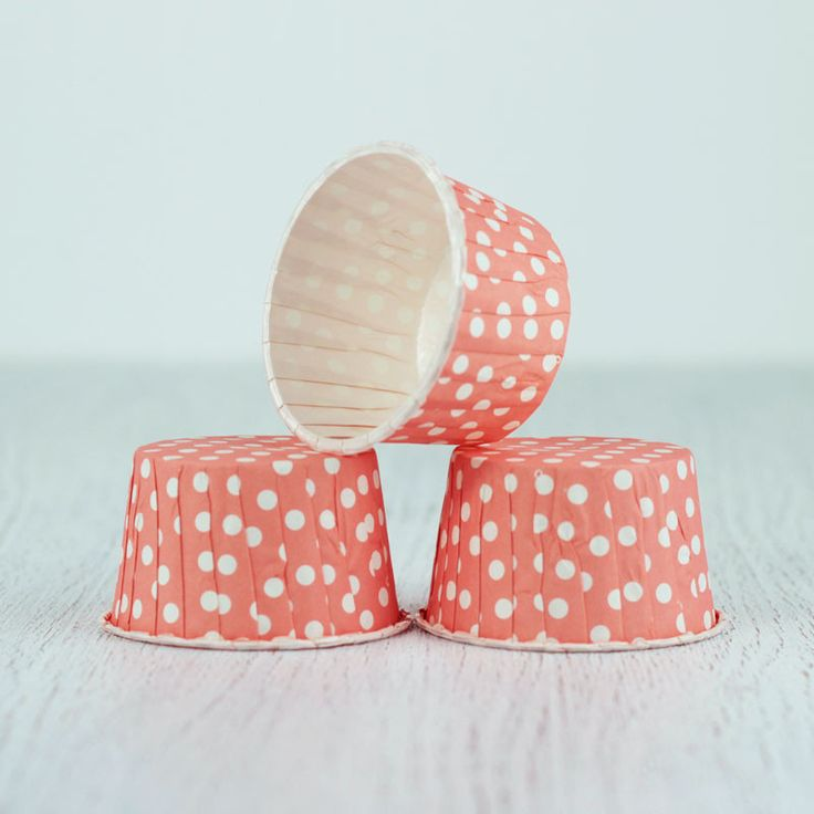 Pink / Peach Dots Ice Cream / Muffin Cups 12 Pcs from My Party Store