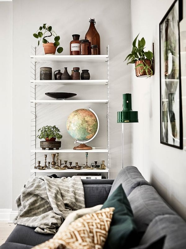 String furniture * living room * shelf decor idea. | via: trendsparnarna