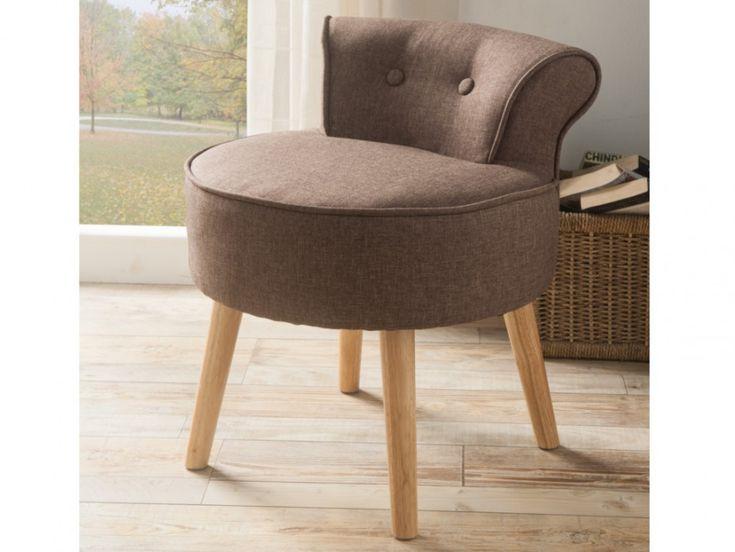 Petit fauteuil crapaud SAVEA en tissu - Coloris gris