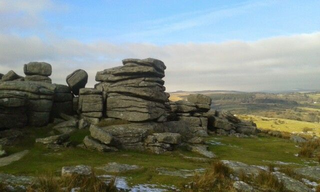 One of the many tors on Dartmoor Feb 2015