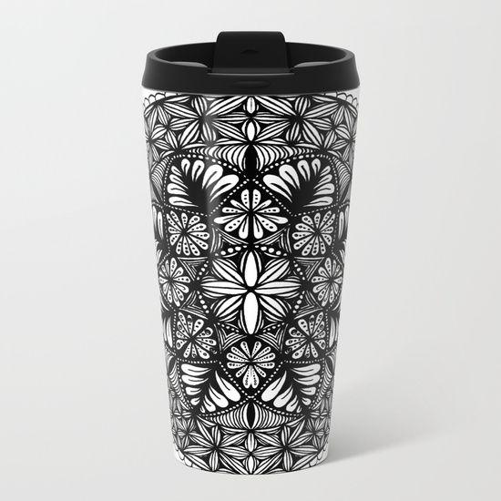 Mandala-8 Point Metal Travel Mug