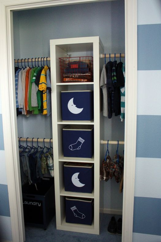 IKEA HACKS - EXPEDIT in the closet Really want to do this for Finn's Closet