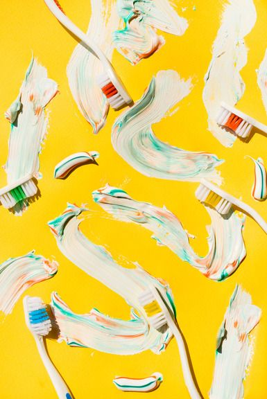 art direction | toothpaste + toothbrush still life