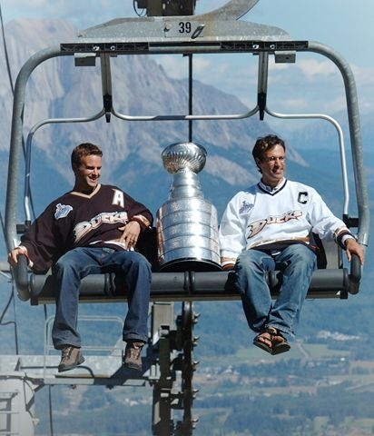 The cup taking a ride