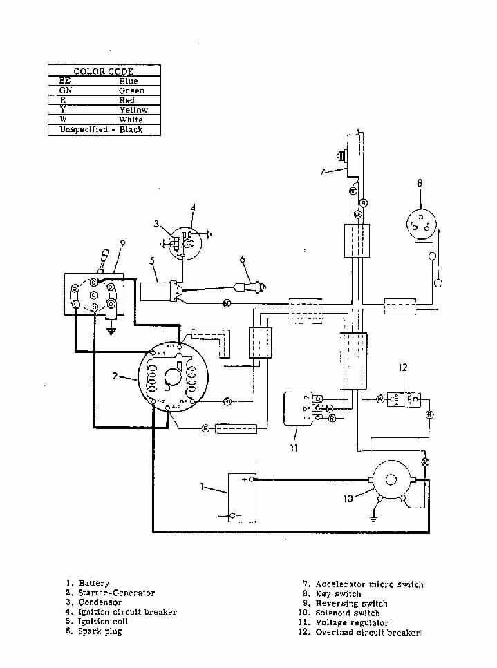 ez go golf cart wiring diagram starter generator