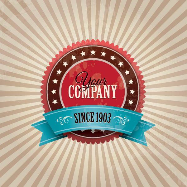 Vintage Company Badge Vector Graphic — retro