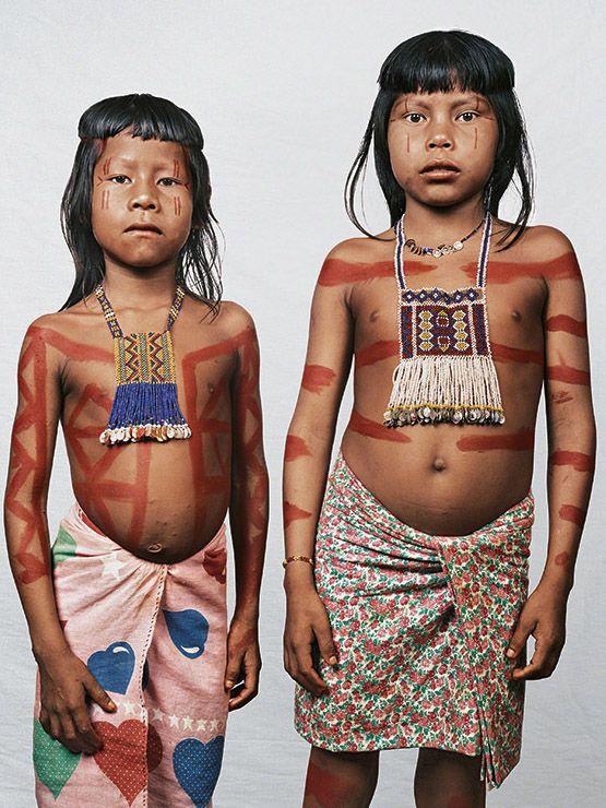 Amcowcy, 4 and Ahtorkrã, 6, Amazonia, Brazil |