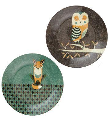 Набор столовых тарелок Wild Life