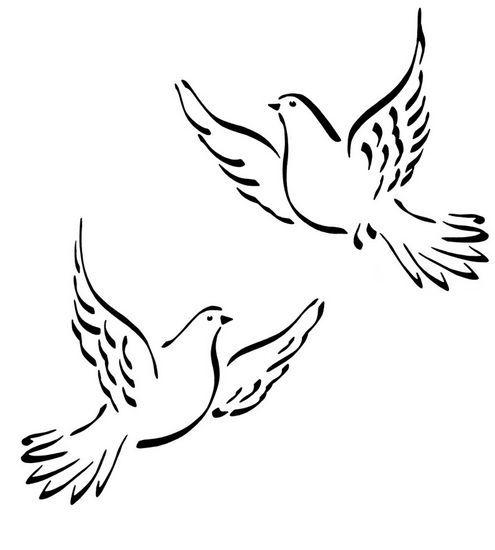 Les 25 meilleures id es de la cat gorie dessin colombe sur - Coloriage colombe ...