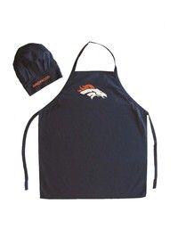 Wish   Sports Team Logo NFL Denver Broncos Apron and Chef Hat