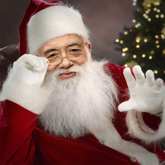 Jimmy Page...as Santa!!! LOL!