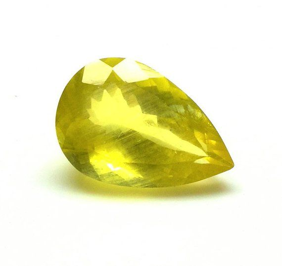 Natural Yellow Aquamarine 21x14 50 M M Faceted Pear Aaa Quality
