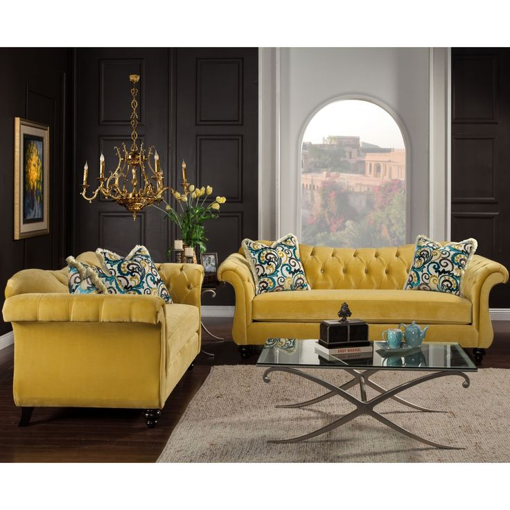 what color pillows for a yellow couch