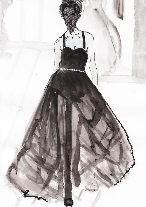 Fashion drawing of design by Jason Wu spring/summer 2013