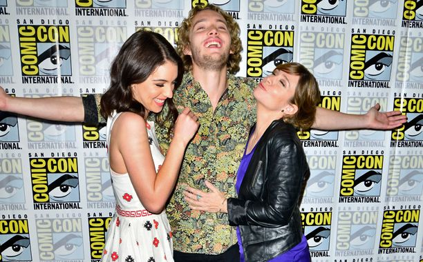 Adelaide Kane, Toby Regbo, and Megan Follows, Reign at San Diego Comic-Con 2014