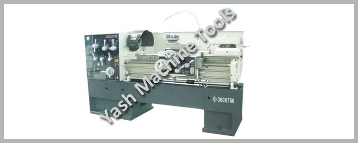 High speed light duty lathe machine with leadscrew which is protected with a metal guard preventing the dust and increasing operator safety.