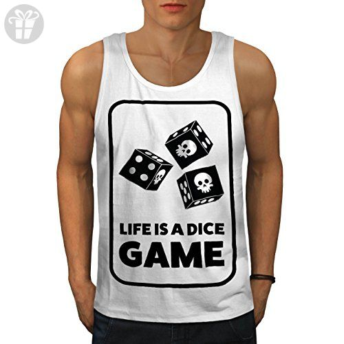 Dice Skull Game Bet Funny Casino Fun Men L Tank Top | Wellcoda - Funny shirts (*Amazon Partner-Link)