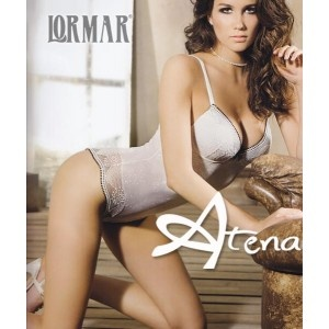 Body Lormar Chicca collezione primavera estate 2013. Splendico Body in microfibra stampata e pizzo. Disponibile nel colore seta (come foto) e Nero.