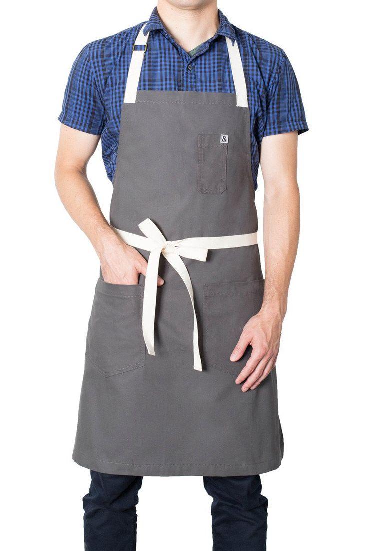 Michael gray classic apron mandil uniformes uniformes - Uniformes de cocina ...
