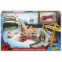 Hot Wheels Marvel Ultimate Spider-Man vs The Sinister 6 Track Set - Spidey's Web Swing Takedown