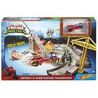 Hot Wheels Marvel Ultimate Spider-Man vs The Sinister 6 Track Set - Spidey's Web Swing Takedown