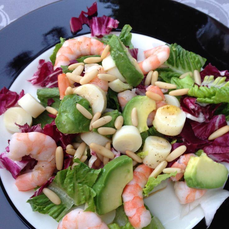 Maexies Bistro: Salat mit Palmherzen und Avocado