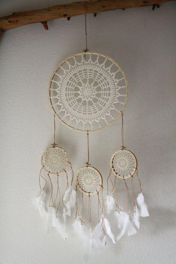 Vintage Doily Dreamcatcher No. 033 by BelleNotti on Etsy, $80.00 also on decorativeuseonly.com