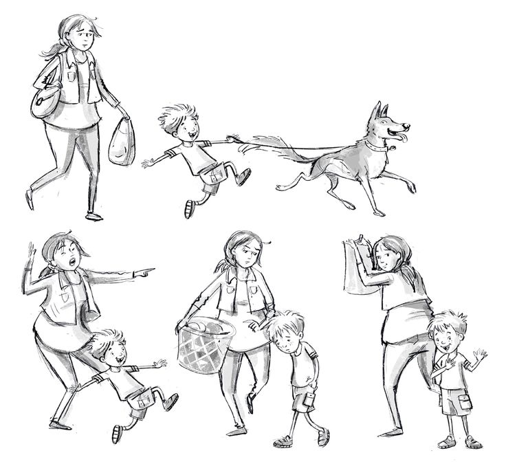 These are the sketches of our three main characters for our authored and illustrated picture book. Timmy loves his best friend Jack, but Tim's Mum isn't so sure. Jack does doggy things that get him into trouble, much to Timmy's dismay, but in the end, he turns out to be a very good boy indeed!