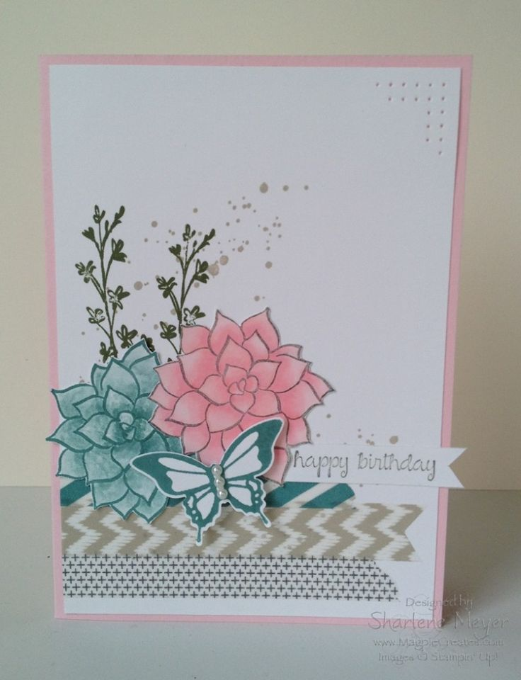 Natures Perfection stamp set - available FREE during March. Card by Sharlene Meyer www.magpiecreates.com