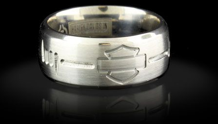 Harley Davidson Wedding Rings | Home - Officially Licensed Harley-Davidson® Jewelry by Stamper ...