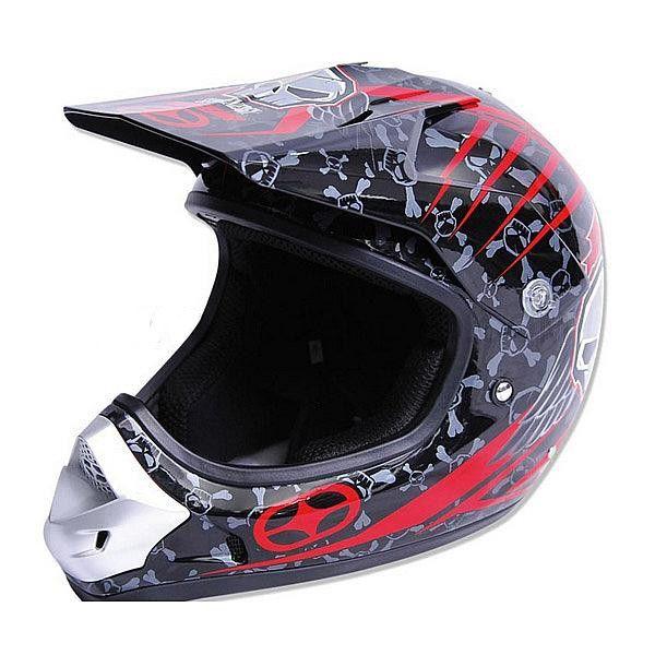 Casque No Fear Energy Kid Rouge - Speedway #casque #enfant #speedway #rouge #noir #moto #cross #motocross