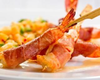 Crevettes roulées en robe de jambon allégé : Savoureuse et équilibrée | Fourchette & Bikini