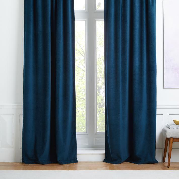 Worn Velvet Curtain Regal Blue Velvet Curtains Colorful