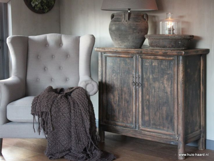 Oud houten kastje Elmwood❣️ ~ Style By Gj *~
