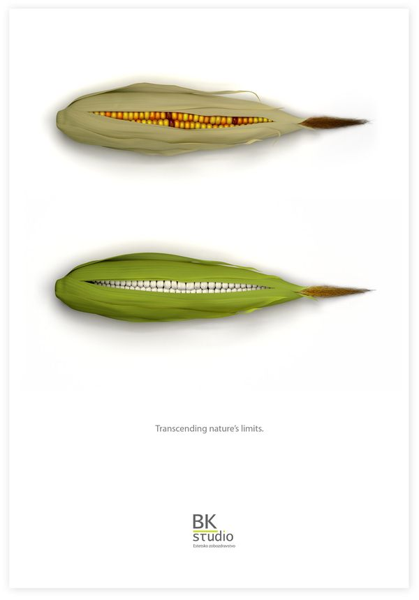 A clever ad for an aesthetic dentistry company. #dentistry