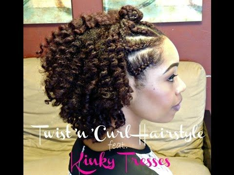 #76. Natural Hair | Twist'n'Curl Hairstyle | feat. Kinky Tresses - YouTube