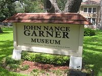John Nance Garner - Wikipedia, the free encyclopedia - Museum in Uvalde, TX