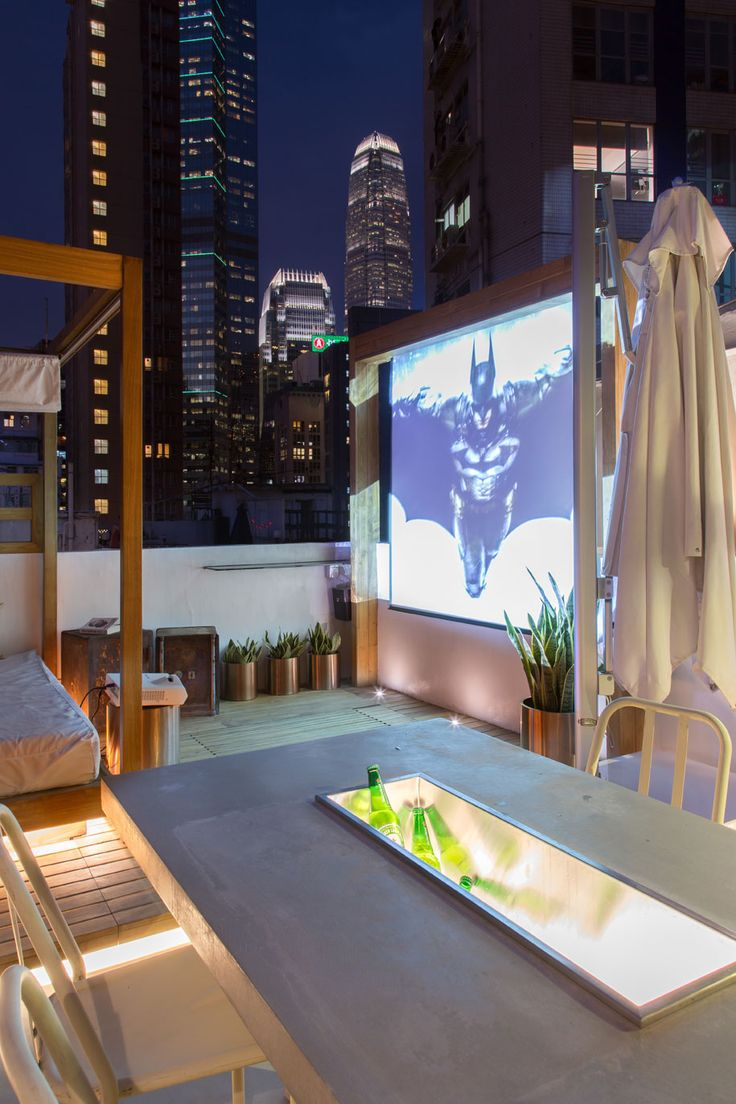 House design rooftop philippines - Make Your Rooftop A Resident Favorite With A Movie Screen Perfect For Summer Viewing Parties