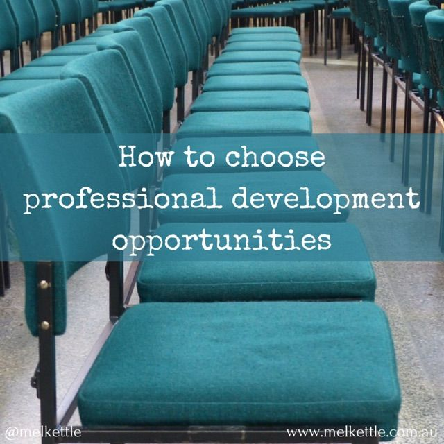 How to choose professional development opportunities - Mel Kettle's marketing blog