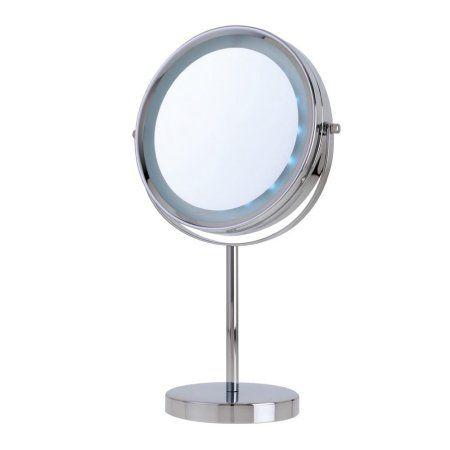 Danielle Vanity 5x Mirror Chrome Mirror Lighted Vanity Mirror Makeup Mirror With Lights