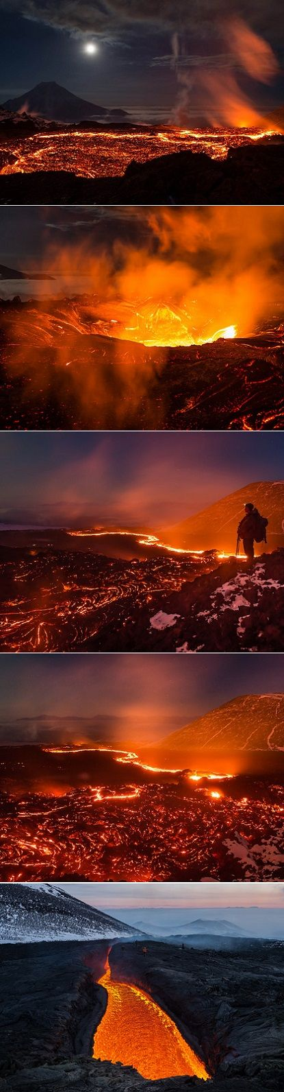 Erupting Volcano Tolbachik on the Kamchatka Peninsula in Russia